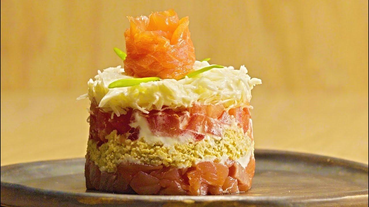 Норвежский салат с копченым лососем. Рецепт от Всегда Вкусно!