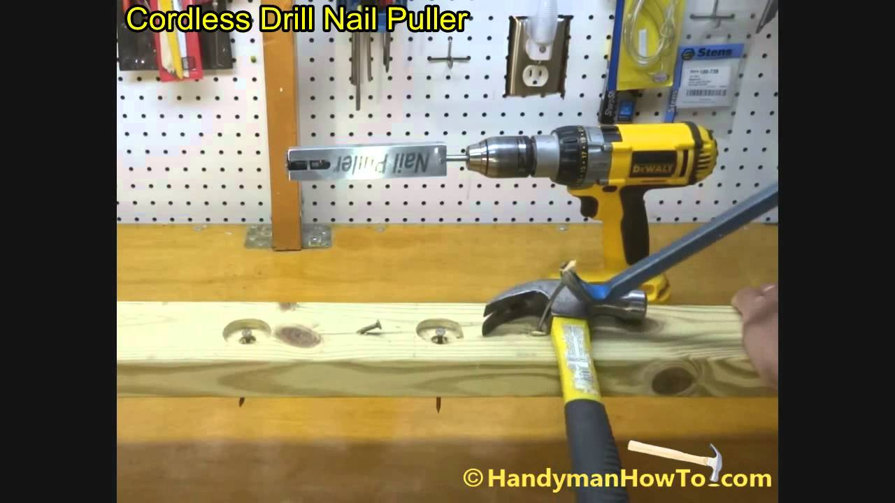 Cordless Drill Nail Puller Demonstration - YouTube