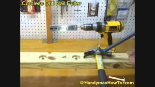 Cordless Drill Nail Puller Demonstration