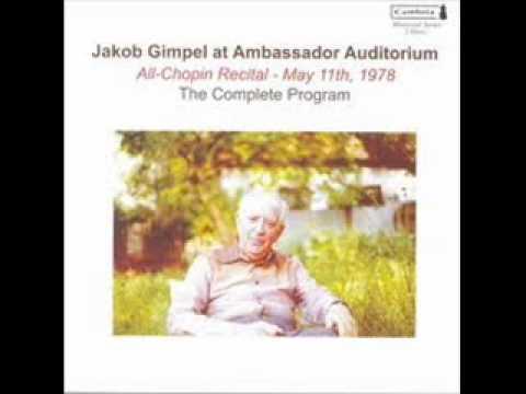 Jakob Gimpel plays Chopin Variations Brillantes Op. 12