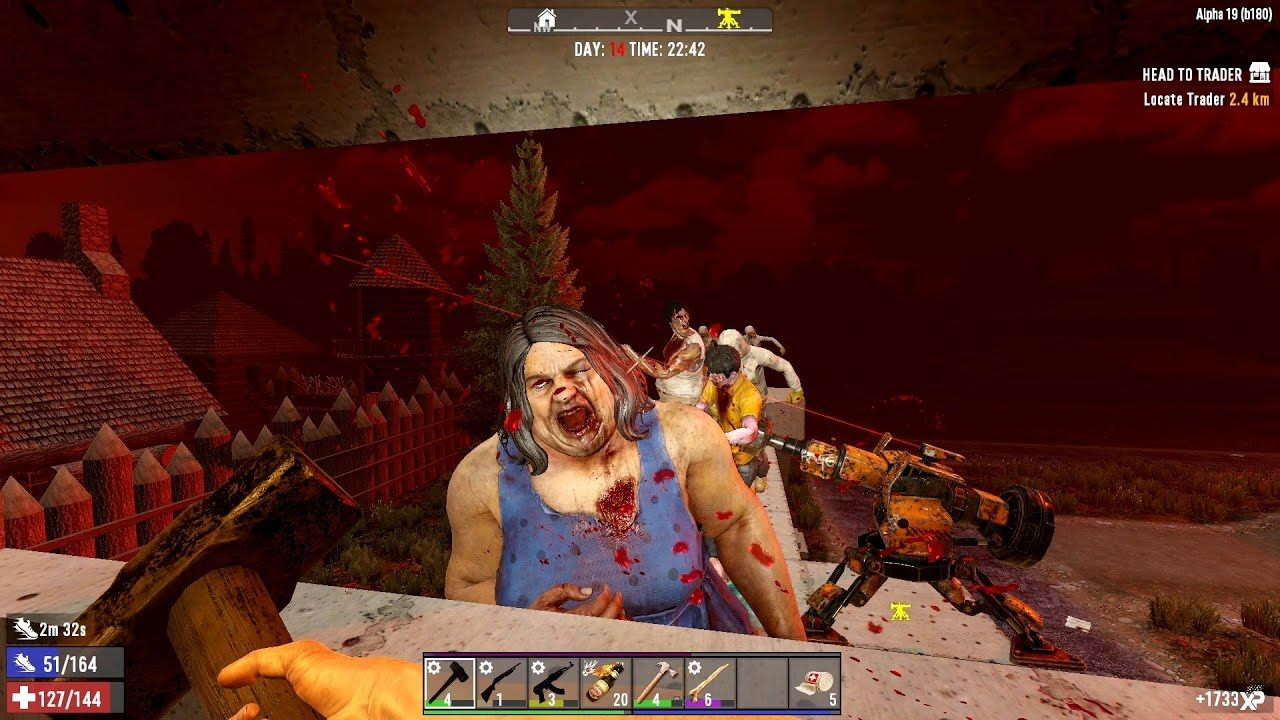 Download 7 Days To Die Alpha 19 - Horde Time - S1E08