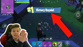 GETTING MY FIRST FORTNITE MOBILE WIN!