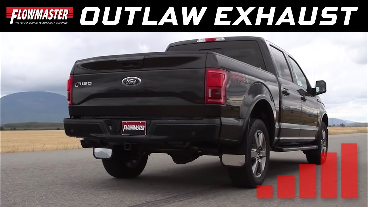Flowmaster Outlaw Cat Back Exhaust System 2015 2019 Ford F150 3 5l