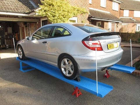 Homemade Car Service Ramps Youtube