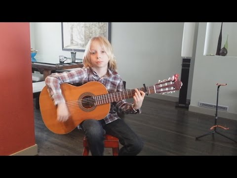 8-year-old Calgary kid lights up flamenco guitar
