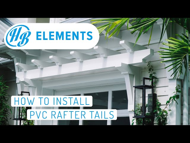 PVC Rafter Tails - How To Install Rafter Tails From Start To Finish