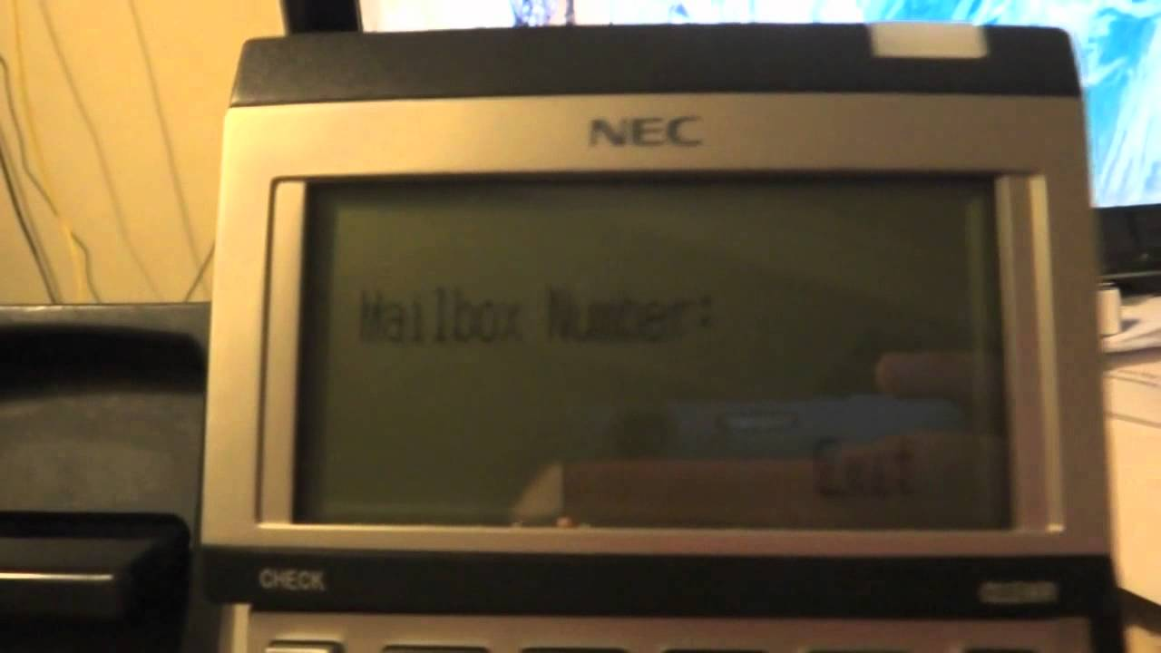 NEC UX5000 and SV8100 -- Changing Voice Mail Greetinh