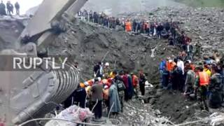 China  More than 140 feared buried under rubble after Sichuan landslide