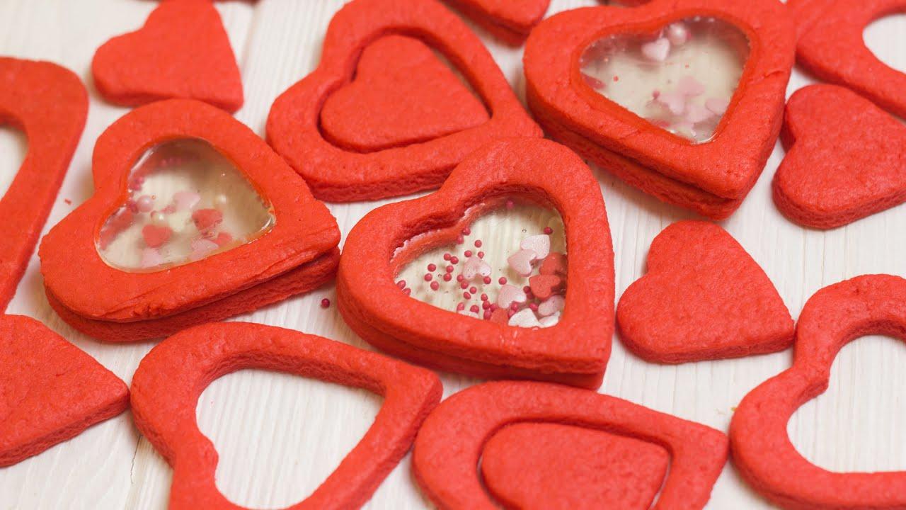 Печенье - валентинка на 14 февраля. Печенья в форме сердца вместо открытки на 14 февраля.