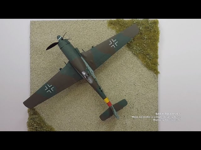 How to make a simple display base for your scale model (runway for aircraft)?