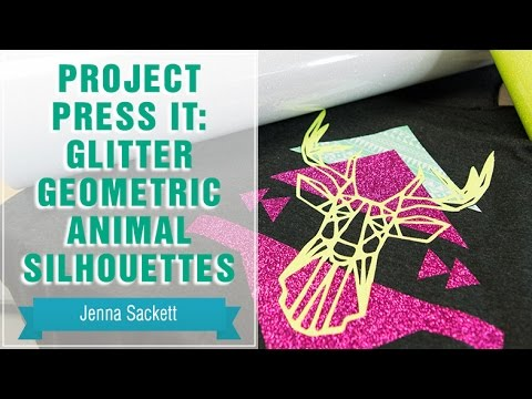 Project Press It: Printing 3-Color Glitter Geometric Animal Silhouettes