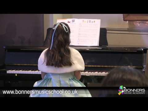 Bonners Music Academy Eastbourne Piano Lessons; Claudia Performs The Clock Shop & Half Time Show