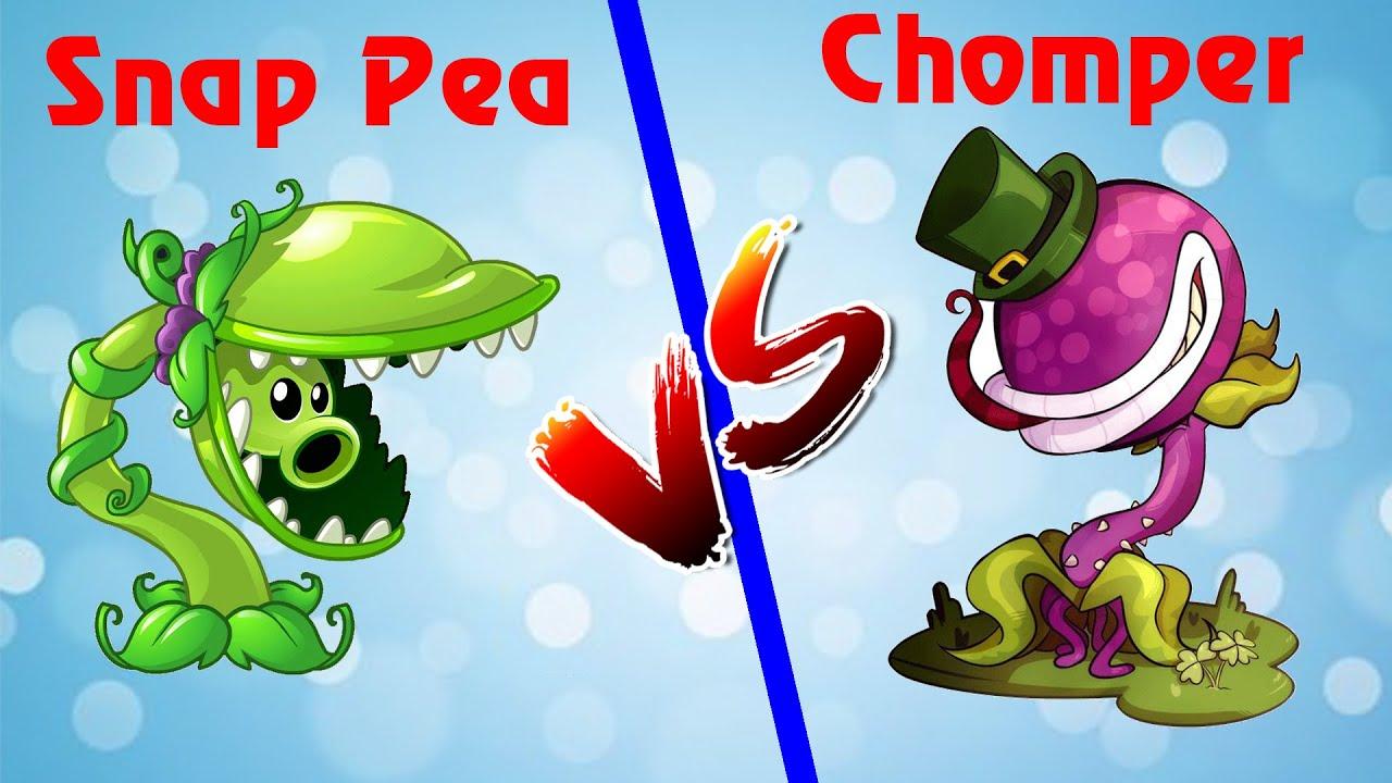 Plants Vs Zombies 2  | Chomper vs Snap Pea (Max Level) Premium  | PVZ 2 - 8.2.1