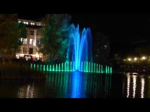 Licht Musik und Wasser - Show am Potsdamer Platz Berlin