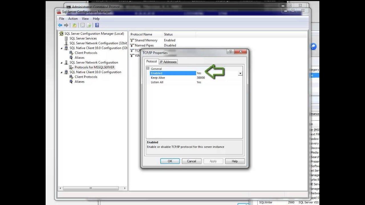 Change Sql Server Tcp Ip Port Youtube