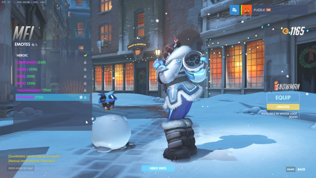 Overwatch - All Christmas Emotes and Victory Poses - YouTube