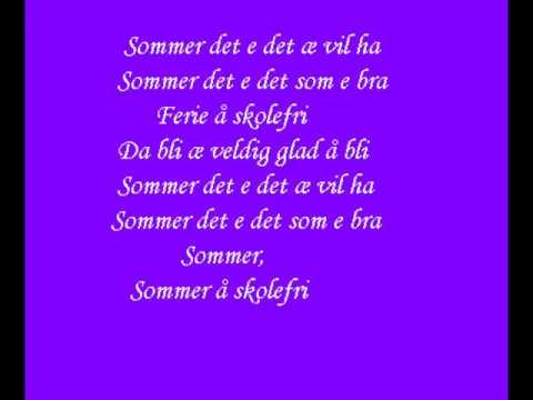 Malin Reitan - Sommer og skolefri (met tekst)
