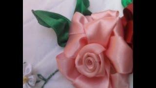 Flores de Cetim – Rosa – Parte 1 Passo a Passo com grasi freitas