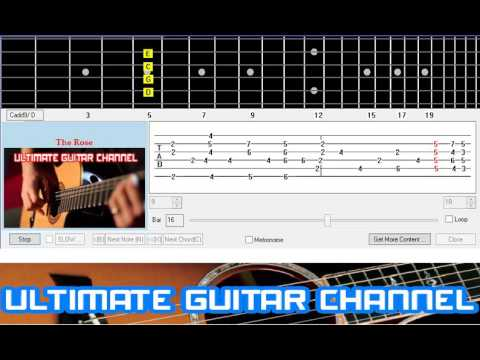 [Guitar Solo Tab] The Rose (Bette Midler)