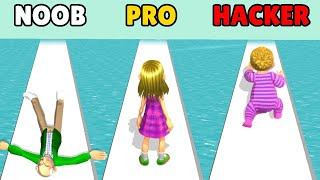 NOOB vs PRO vs HACKER in Run Of Life screenshot 1