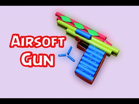 How to Make a Airsoft Gun from Paper | (Paper Pistol)weapon | Easy paper Gun Tutorials