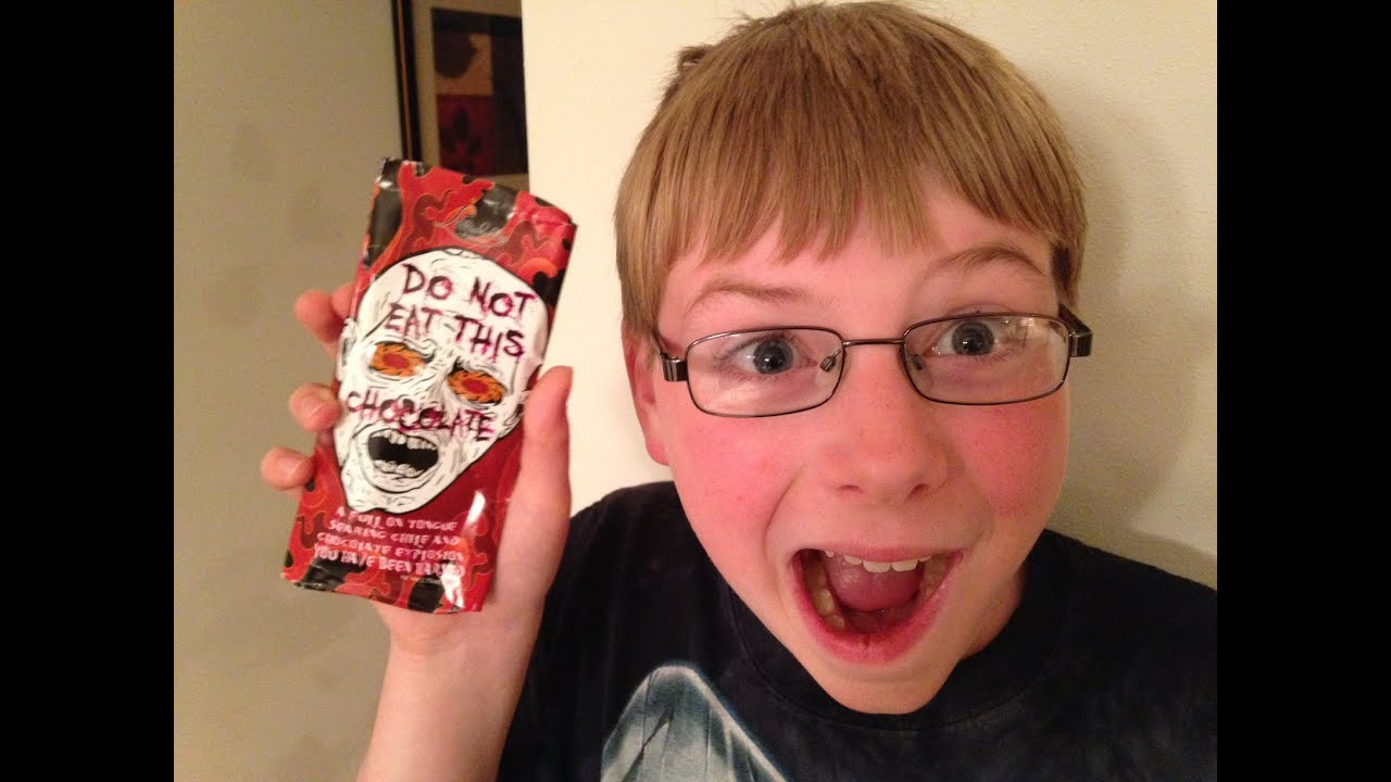 11 Yr Old Eats Do Not Eat This Chocolate Bar Spicy Food