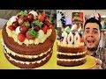 BOLO NAKED CAKE DE BRIGADEIRO BRANCO TRUFADO COM FRUTAS   ESPECIAL 700K