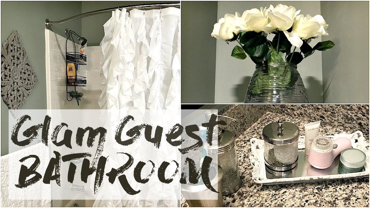 home decor haul ➟ glam guest bathroom - youtube