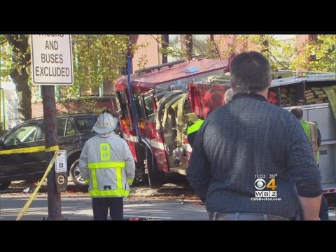 Five Hurt In Fire Truck Crash In Back Bay