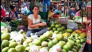 Food Tour Around Cambodian Market - Phnom Penh Village Food - Various Foods In Market