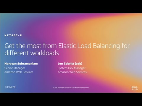 AWS re:Invent 2019: Get the most from Elastic Load Balancing for different workloads (NET407-R2)