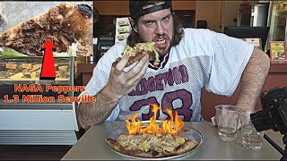 Trying To Eat One Of The World's SPICIEST Pizzas Doesn't Go As Planned | L.A. BEAST