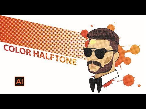How to Use Color Halftone | adobe Illustrator | Illustrator Tutorial thumbnail