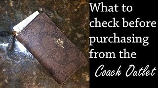 Fail! What to Check from Your Coach Outlet Purchase