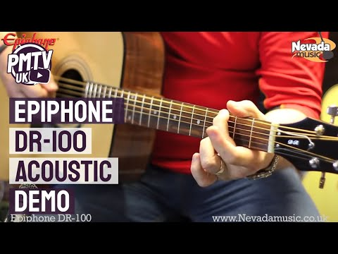 Epiphone DR-100 Acoustic Guitar Demo - Richie Stopforth @ PMT