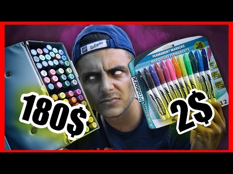 CHEAP vs EXPENSIVE - 180$ vs 2$ Markers Challenge
