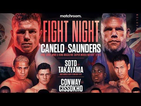 FUL FIGHTS ASM! CANELO ALVAREZ VS BILLY JOE SAUNDERS FULL FIGHTS CARD COMMENTARY! - YouTube