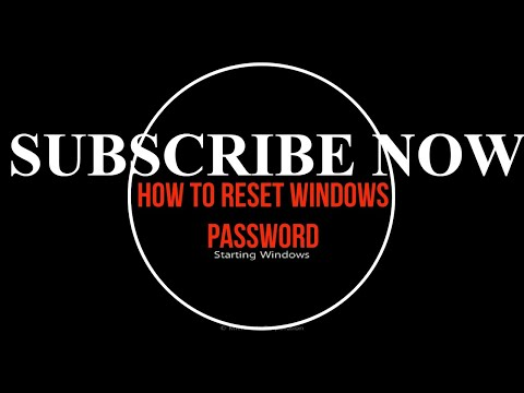 How To Reset Or Crack Or Bypass Windows Password