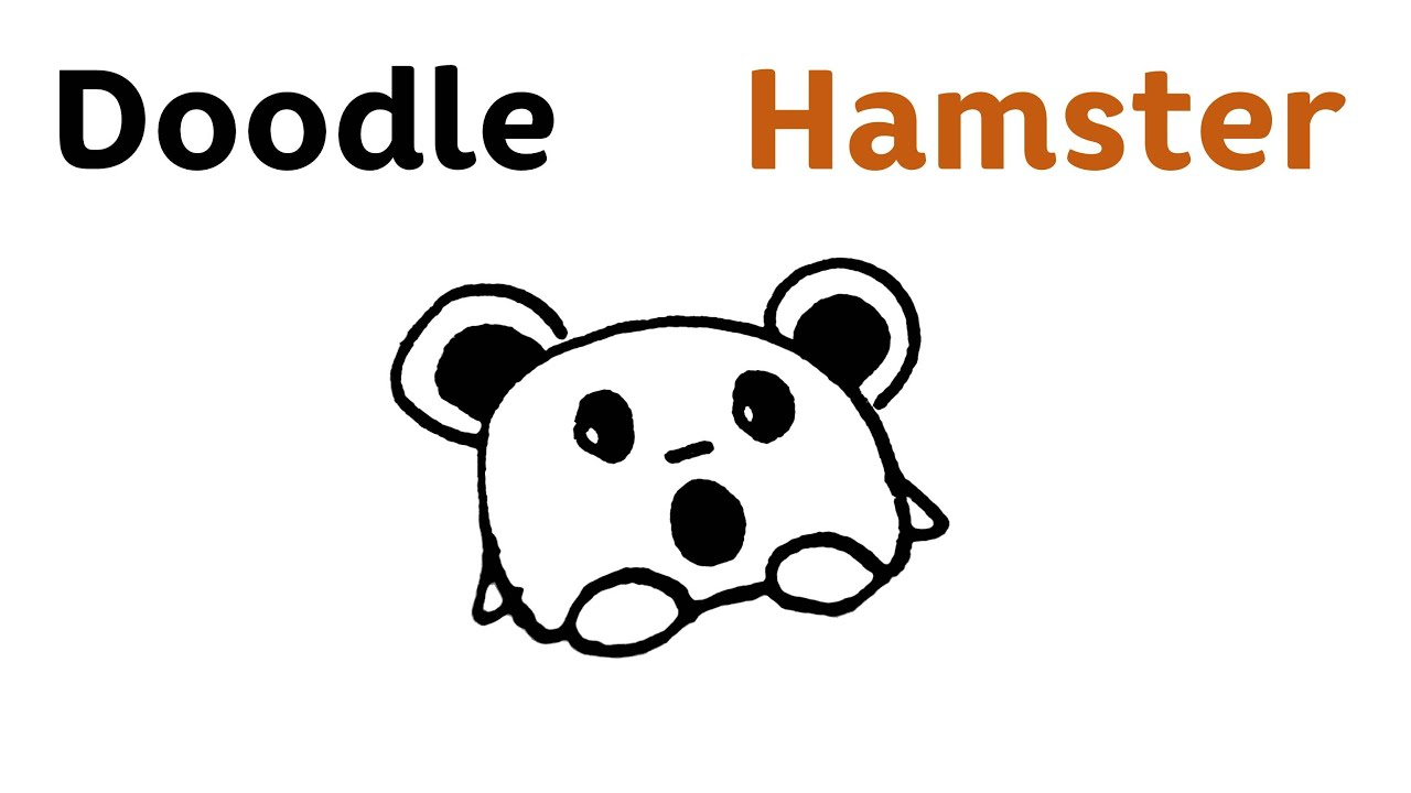Uncategorized How To Draw A Cute Hamster easy doodle hamster step by draw youtube draw