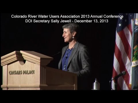 DOI Secretary Sally Jewell Speaking at the CRWUA 2013 Annual Conference