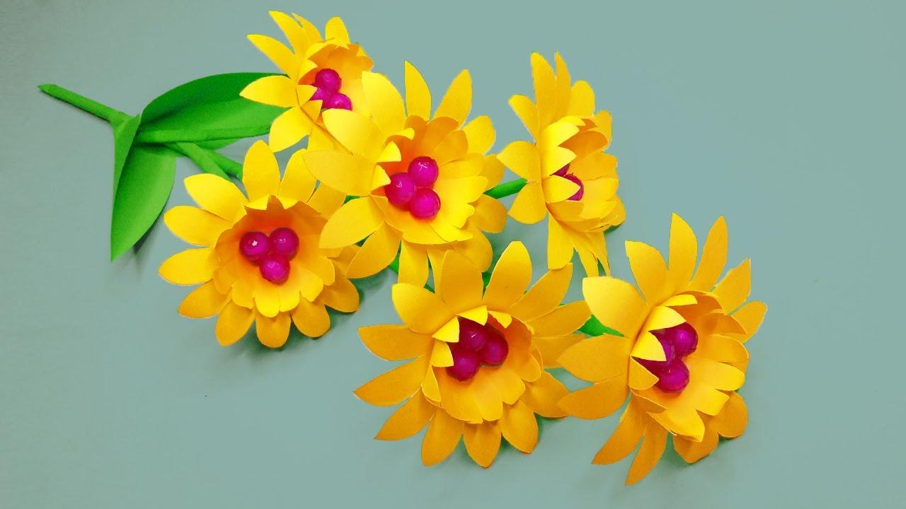 Diy Paper Flower Decoration Ideas Room Decor Ideas Nursery Paper Flowers Paper Craft Youtube