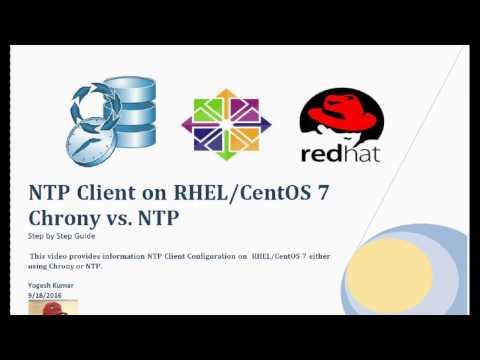 NTP Client Configuration on RHEL,CentOS 7  Chrony vs  NTP