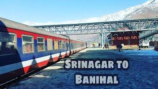 Srinagar To Banihal Railway Station   Indian Train Journey In Jammu & Kashmir