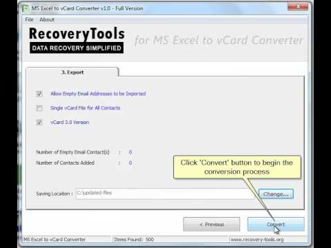 RecoveryTools Excel to vCard Converter Tool | Devpost