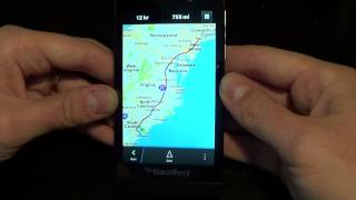 Native Maps and Navigation on BlackBerry 10 Free HD Video