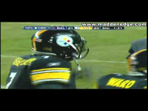 Big Ben Clutch(Beast Mode) To Hines Ward On 3rd & 6 To Tie 2011 Playoffs Vs Ravens