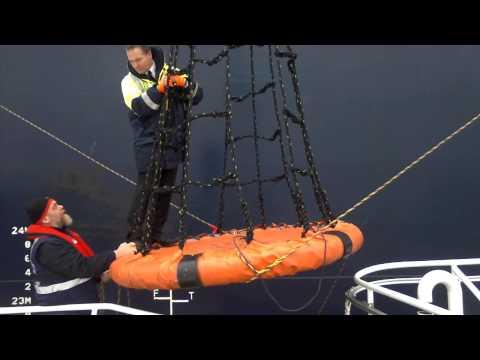 Pilot transfer Scapa Flow Orkney Islands