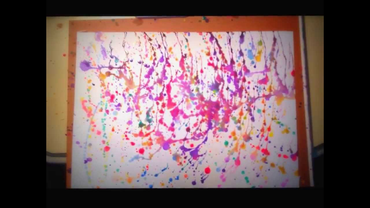 Beautiful paint splatter tutorial - Jackson Pollock ...