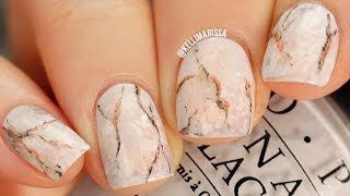 BEGINNER Marble Nail Art Design DIY (using household tools!) || KELLI MARISSA