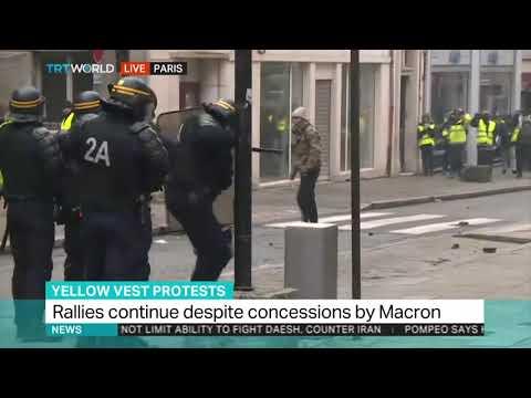 Los chalecos amarillos retomaron fuerzas en otra jornada de disturbios